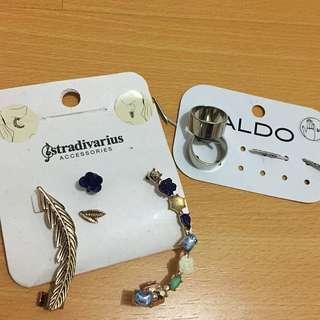 Stradivarius Earrings (+bonus ALDO rings)