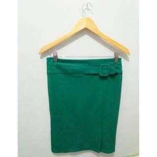 Green Tube Skirt