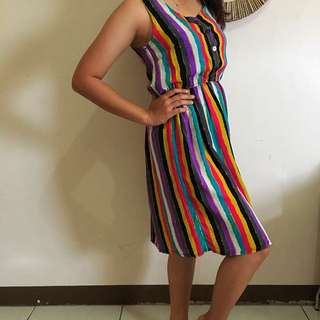 Colour Stripe Dress (size M)