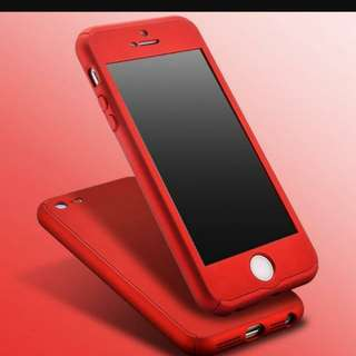 Iphone 6+ 360 Hard Case Red