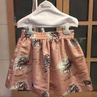 《二手正品》RED VALENTINO粉紅花朵圓裙