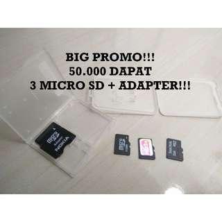 BIG PROMO!! 50.000 dapet 4 Micro SD!