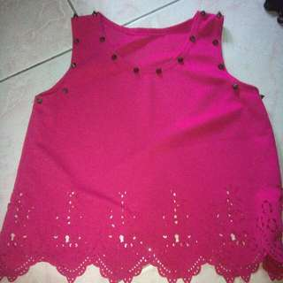 pink top with spike P160+free shipping nationwide