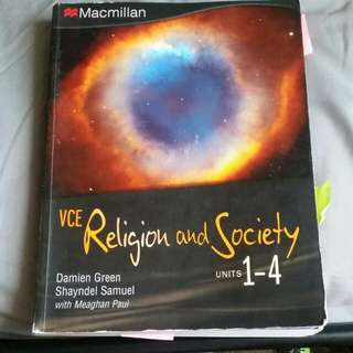 VCE Religion And Society Units 1-4
