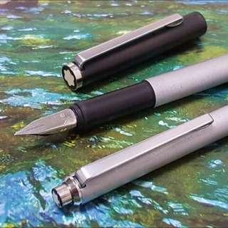 🚚 萬寶龍全金屬鋼筆原子筆