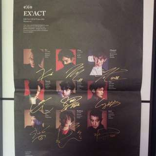 Exo Signed Poster