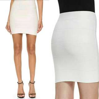 BCBC White Bandage Skirt
