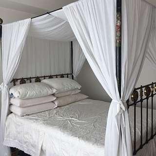 Antique Brass Bed (3 Sided Bed Frame)