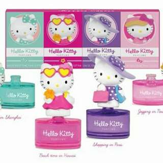Brand New: Limited Edition Hello Kitty's World Tour Miniature EDT (8ml) - Shopping in Paris Parfum (From France) Collectable
