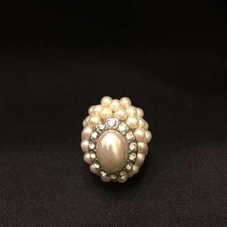 彈性珍珠戒子