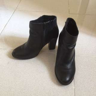 Half Boot Shoes Leather