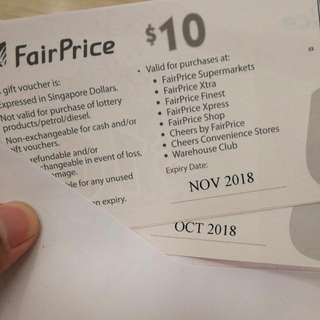 NTUC Vouchers ($10) For Trade