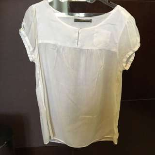 Zara Basic White Blouse