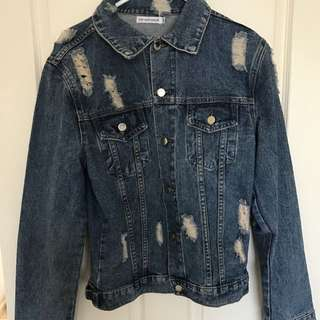 Tobi Heart Ginger Denim Jacket