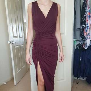Shieke Bellagio Maxi Dress In Port Size 6