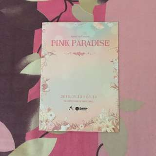 Apink Pink Paradise 1st Concert Official Pamphlet