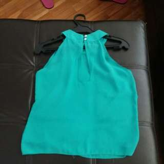 Lady Top..green Free Size