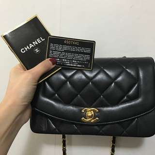 100%real 90%new Chanel Diana Bag 22cm