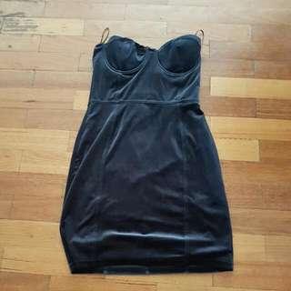 H&m Velvet Strapless Dress