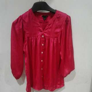 Blouse Satin Fuschia