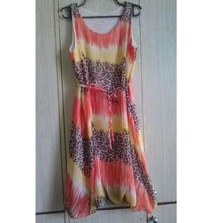 Sleeveless Orange Dress