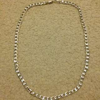 Heavy Curbed 925 Sterling Silver Chain 50 Cm