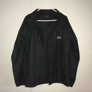 Obey Shell Hooded Jacket - Black