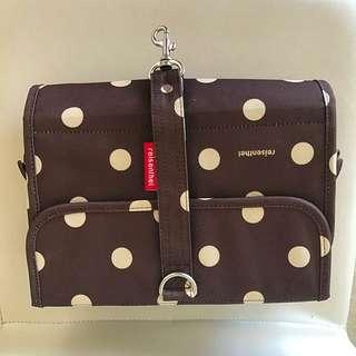 Reisenthel Toiletry Bag wrapcosmetic 'brown ruby dots'