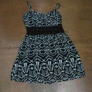F21 Chiffon Lace Cute Dress