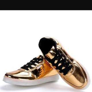 gold korean shoes P800+free shipping