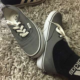 Grey Vans shoes