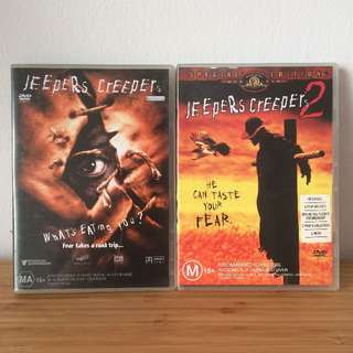 USED DVDS Jeepers Creepers 1 & 2 Special Edition / Horror (REGION 4 discs)