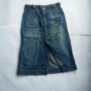 Lea Blue Vintage Skirt