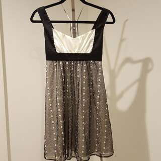 Black And White Dress Size S