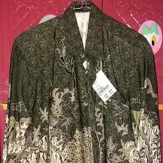 Kemeja Batik Sutera Lengan Panjang Ar-Rijal