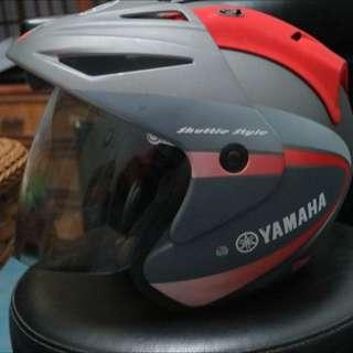 Yamaha 原廠3/4安全帽 Yo-T260 灰紅L