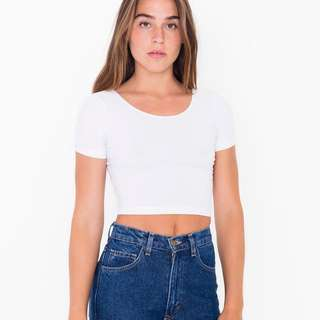 american apparel inspired white crop