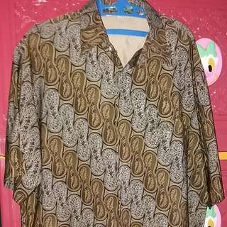 Batik Pria KENCANA UNGU Lengan Pendek