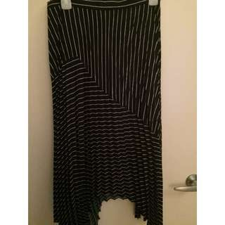 David Lawrence Blue and White Pleated Skirt - NEVER WORN