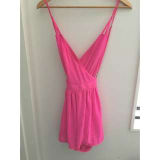 Pink Crossover Playsuit