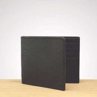 J-artisan Genuine Black Leather Wallet