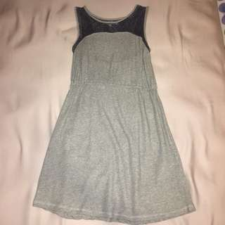 FOREVER 21 grey lace detail dress