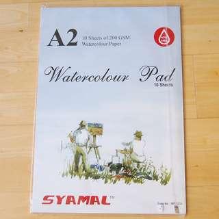 A2 watercolour pad