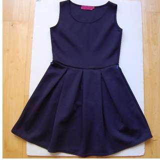 Boohoo navy blue skater dress