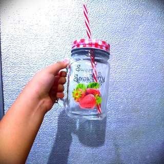 Strawberry Drink Jar