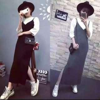 Pinafore Long Dress