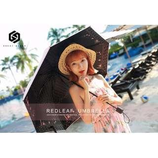 【免運】黑膠兩用 晴雨傘 防曬 紫外線 遮陽傘 小清新 韓國 折疊 創意 太陽傘 女款 #444