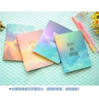 Pastel Galaxy Plain Notebook