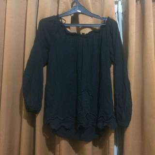 black blouse stradivarius