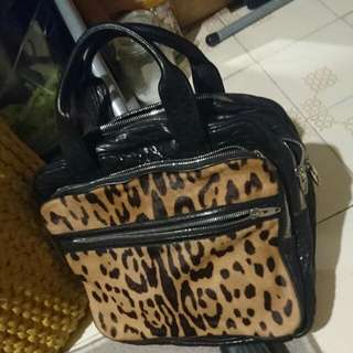 特價$850↓↓$600Alexander Wang Leopard Print Pony Hair Leather Bag,hand Carry Only,exchange Welcome Coach Chanel Furla Marc
